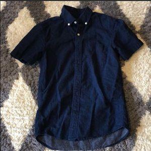 American Eagle Dress Casual Button Down Shirt Blue